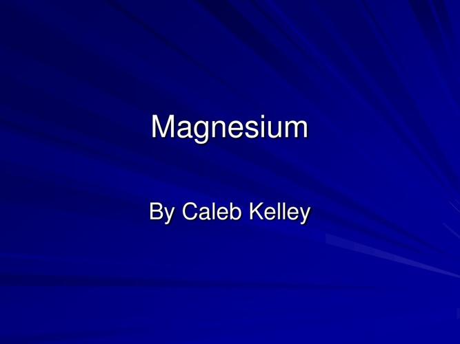 Magnesium book