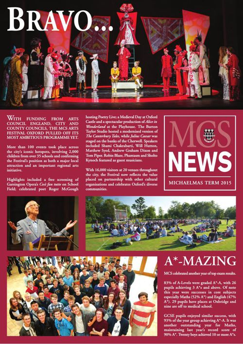 MCS 2015 Michaelmas Newsletter