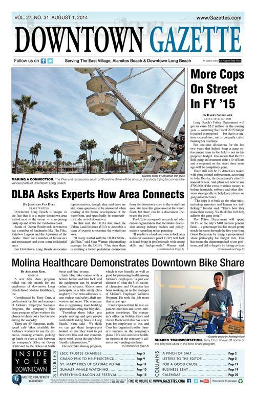 Downtown Gazette  |  August 1, 2014