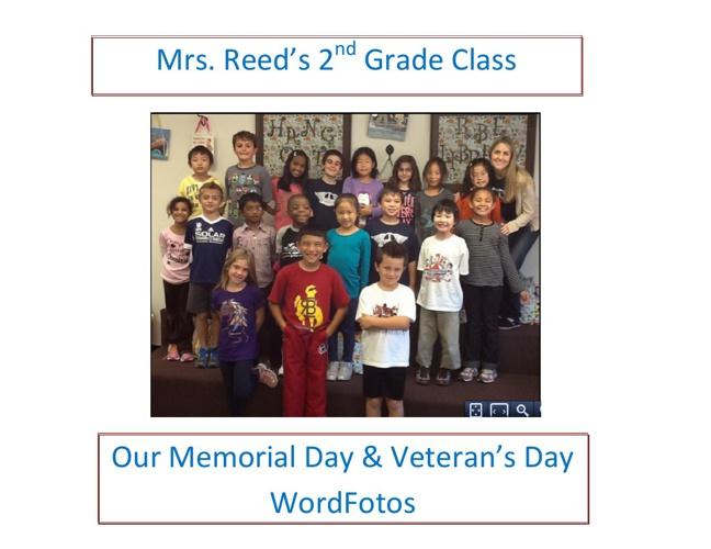 Ms Reed's Memorial Day & Veteran's Day WordFotos