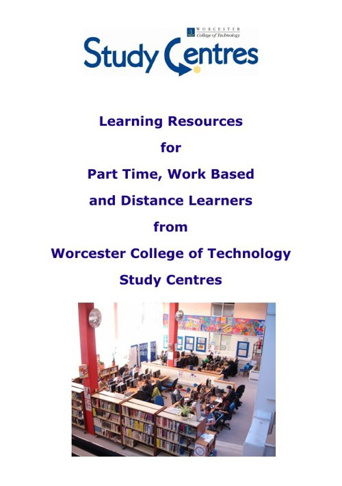 Learning Resources for Part Time, Work Based and Distance Learne