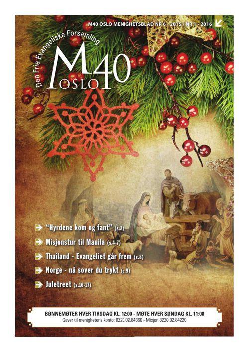 M40 Menighetsblad - Desember 2015