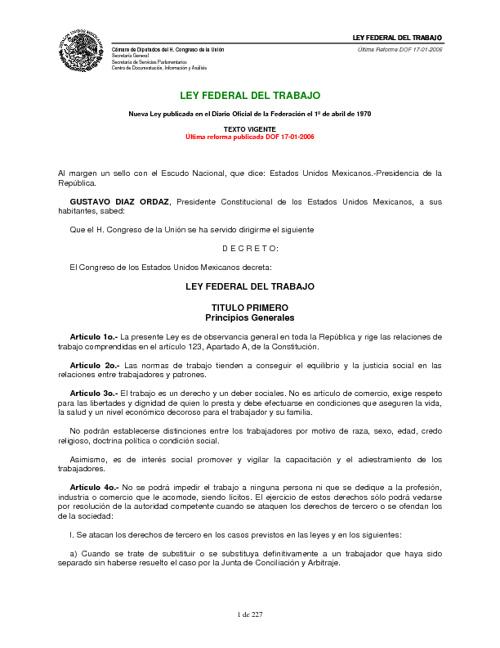 Copy of Ley Federal Del Trabajo