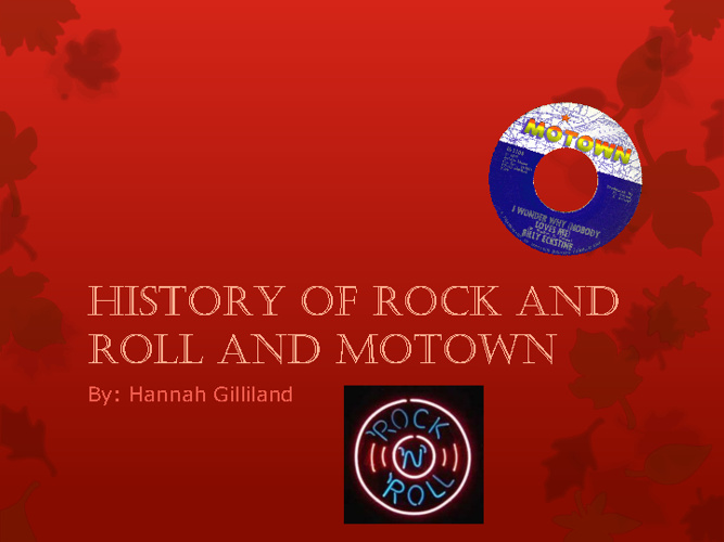 Rock and roll Motown