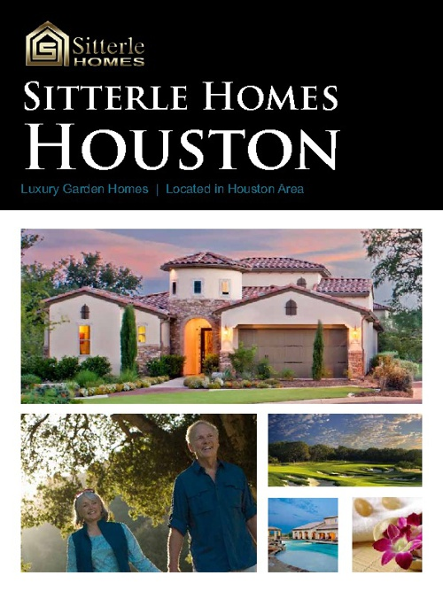 Sitterle Homes Houston Brochure