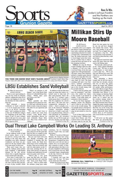 Gazette Sports | April 4, 2013