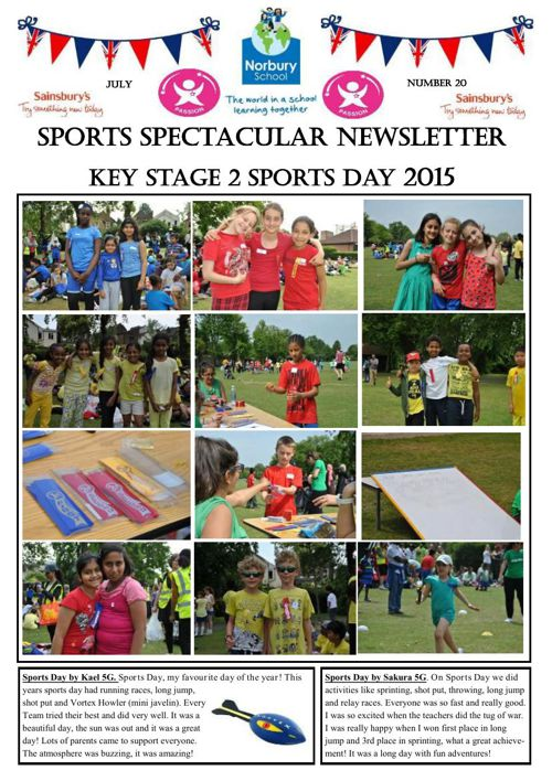 Sports Newsletter Number 20