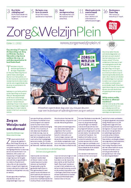 Zorg & Welzijn Krant 2012 | Oplage 575.000