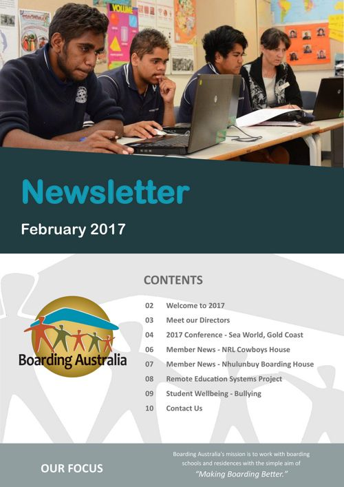 Boarding Australia February 2017 Newsletter