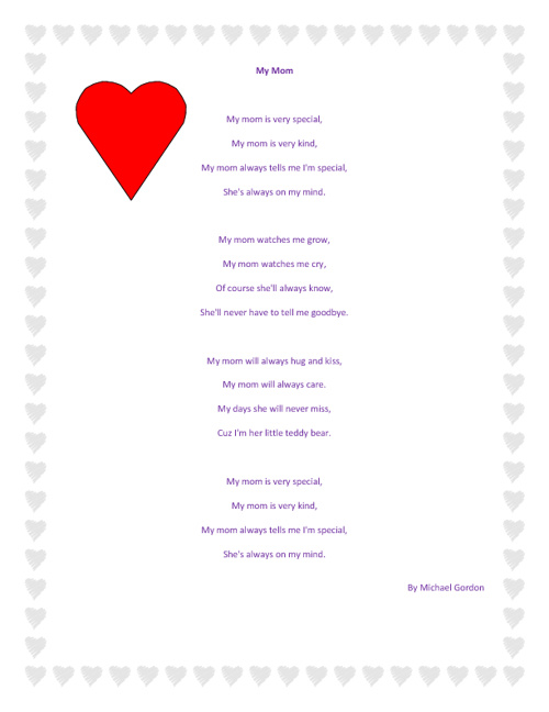 Poems For My Mom 3 By Yanette Gonzalez