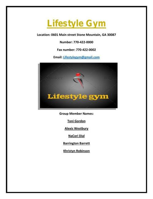 Life style gym101