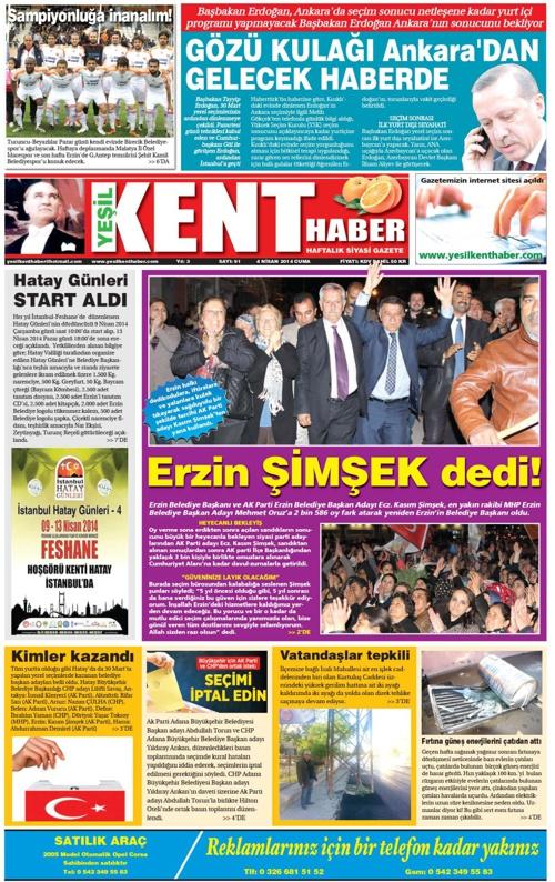 Yeşilkent Haber Gazetesi - Sayı 91