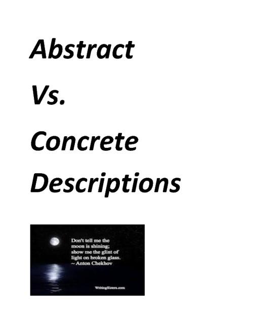 Abstract Vs Concrete Descriptions