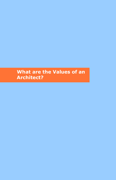Values of an Architect