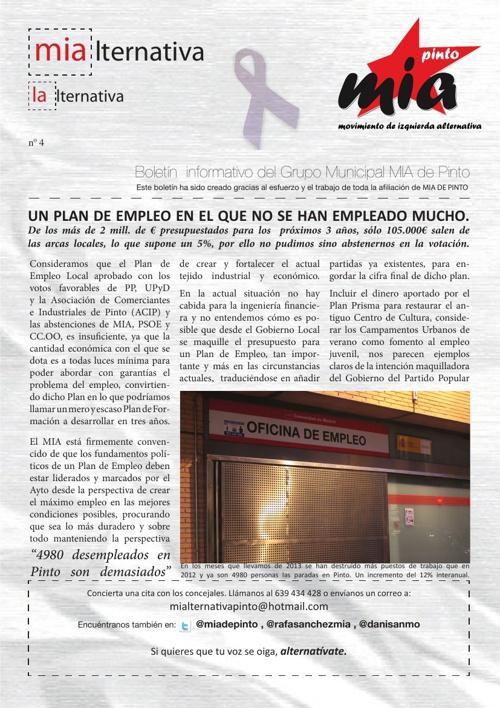 Boletín MIA Pinto. Marzo 2013.