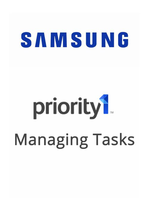 Priority 1 - Managing Tasks