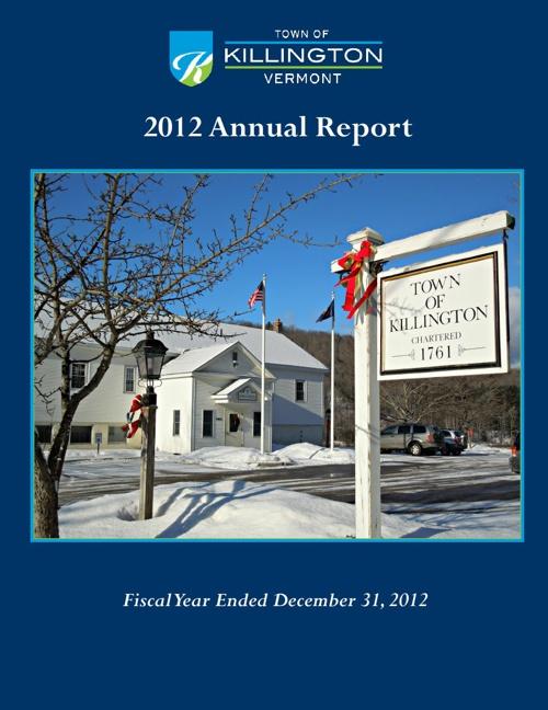 Town of Killington Annual Report