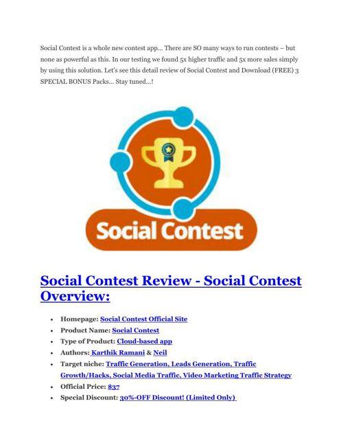 Social Contest review - $16,400 Bonuses & 70% Discount