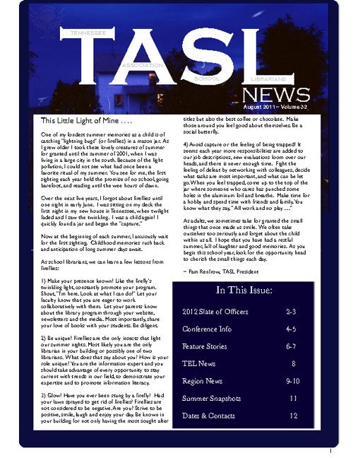 TASL News August 2011