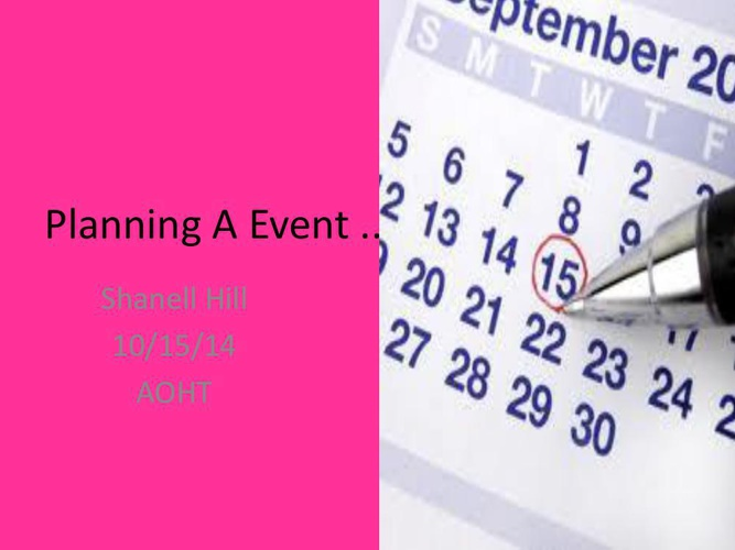 Planning A Event