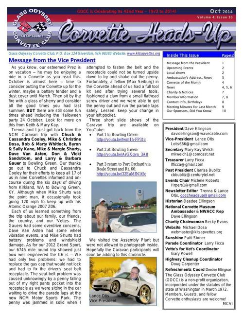 GOCC October 2014 Newsletter -