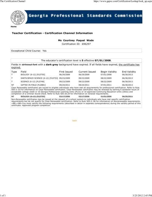 Georgia Teaching Certification