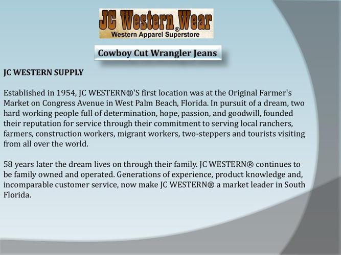 Cowboy Cut Wrangler Jeans