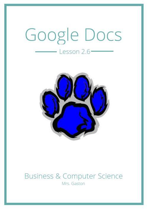 Google Docs Lesson 2.6