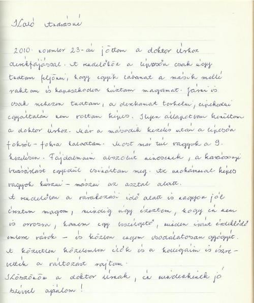Kiropraktika Budapest - páciensek írták