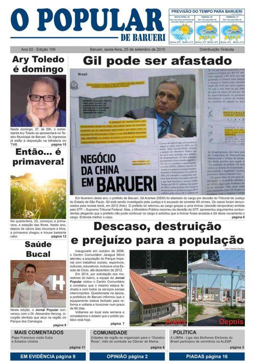 109ª edição do Jornal Popular de Barueri