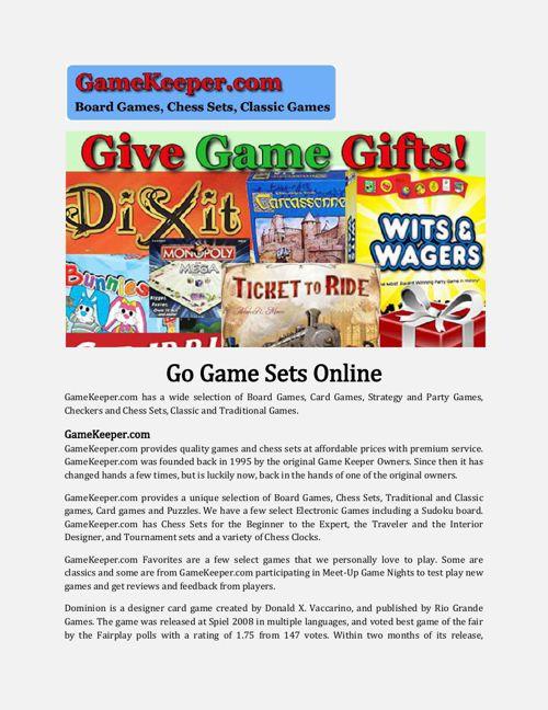 Go Game Sets Online