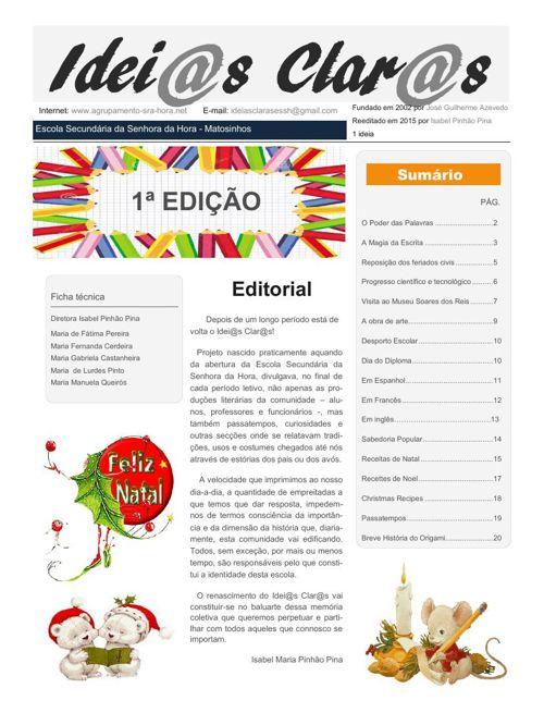 1º Edição - Idei@as Clar@s