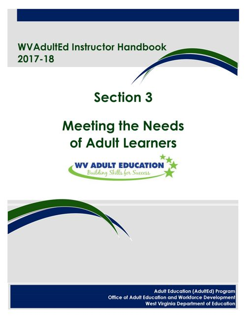 WVAdultEd Instructor Handbook 2015 - 2016 Section 3