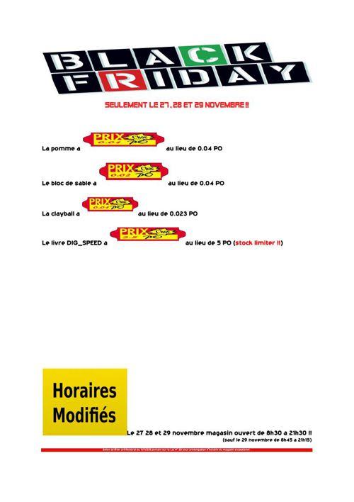 Catalogue BLACK FRIDAY | Promotion CHOC
