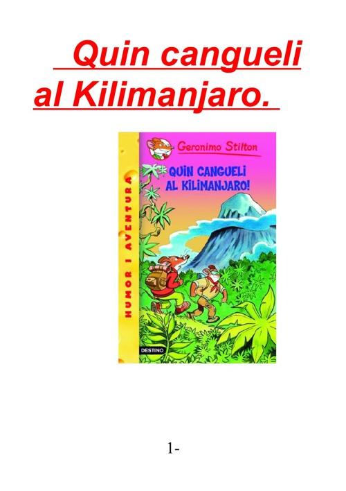 Quin cangueli al Kilimanjaro