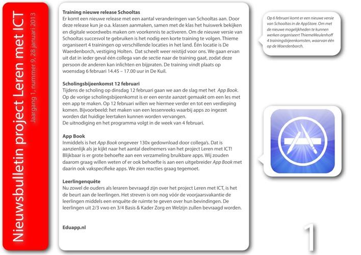 Nieuwsbulletin Leren met ICT, jaargang 1, nummer 9