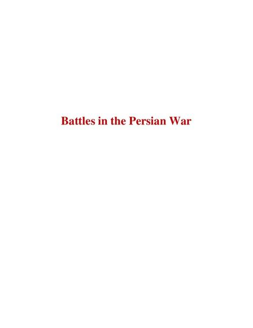 Battles of the Persian War