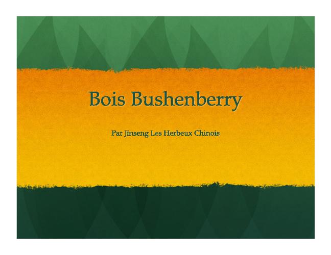 Bois Bushenberry