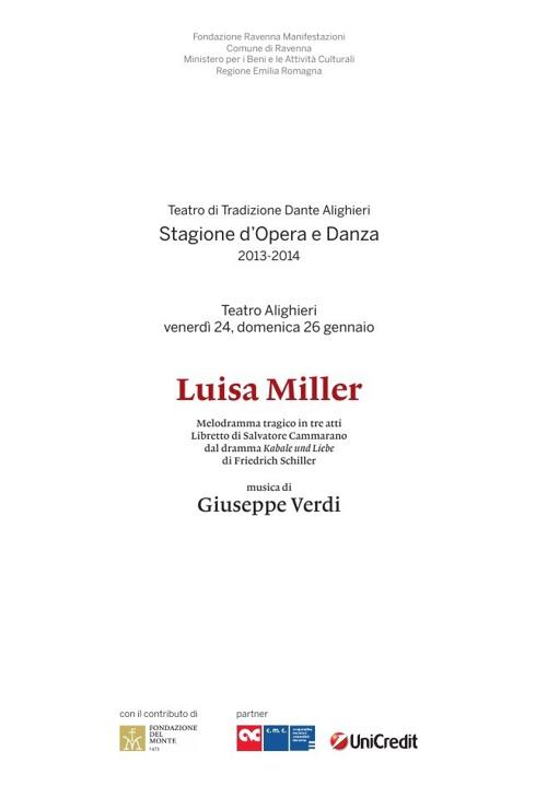 Programma Luisa Miller