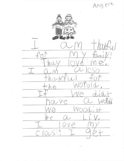 Mrs. Duncan's Class Thankful Book