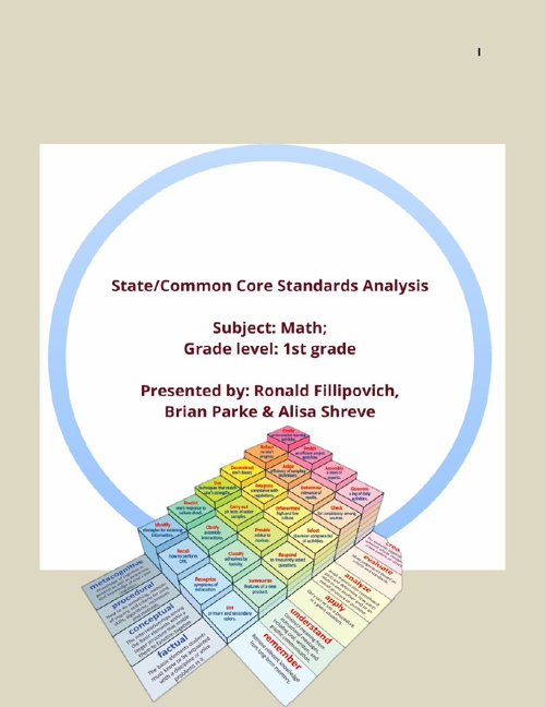 Common Core State Standards Math 1st Grade Analysis