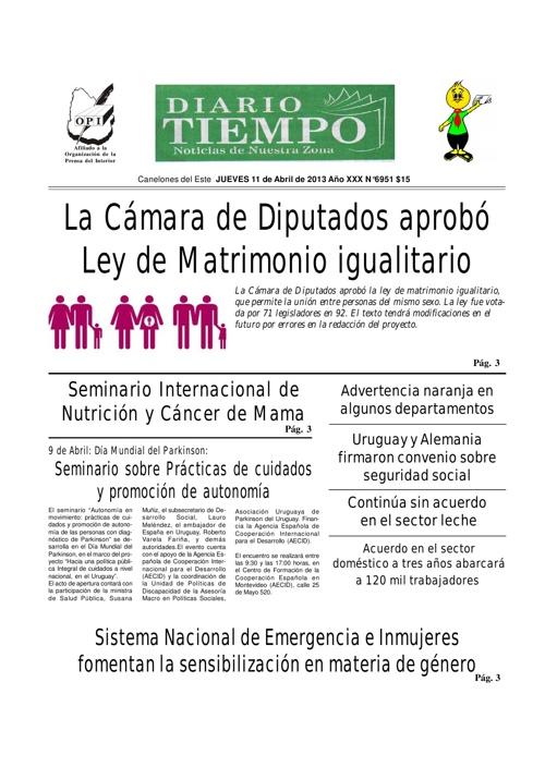 Diario Tiempo - 11 de Abril de 2013 - Edición 6951