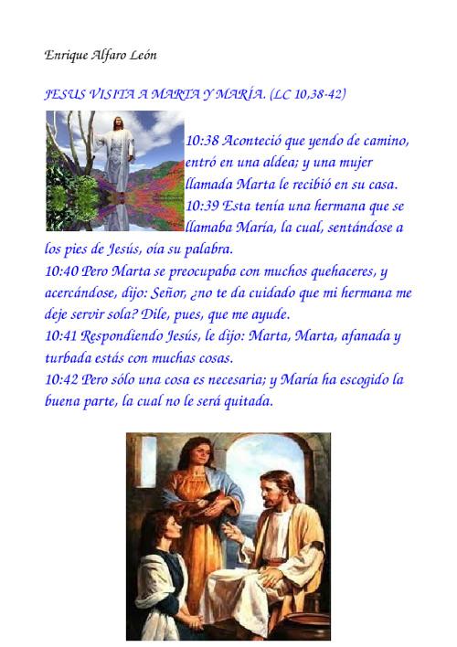 JESUS MARTA Y MARÍA