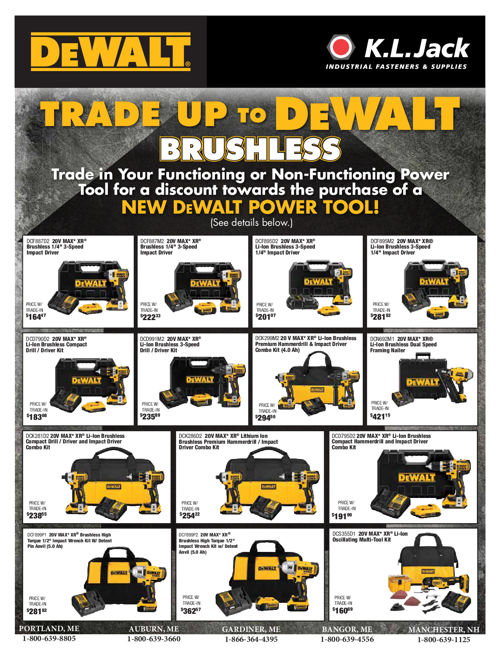 2016 DeWalt Trade Up Flyer - KL Jack & Co.