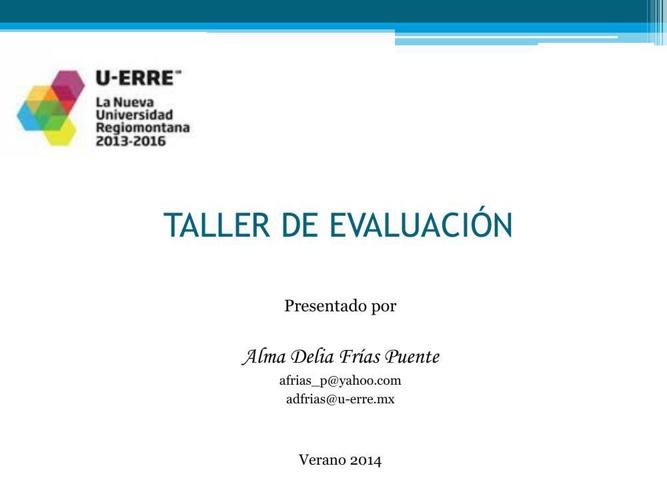 TALLER DE EVALUACIÓN_SummerBreak_v14_ADFP