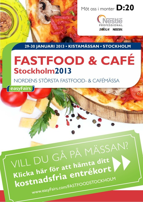 E-biljett FASTFOOD & CAFÉ Stockholm 2013 - Nestlé