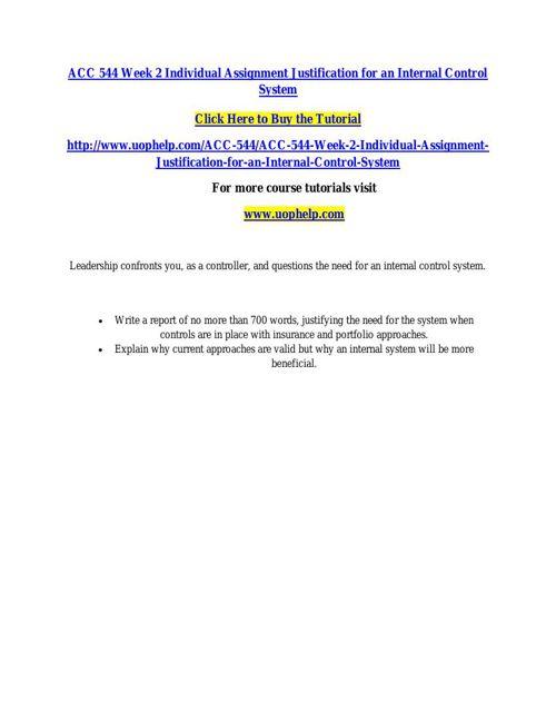 ACC 544 INSTANT EDUCATION / UOPHELP