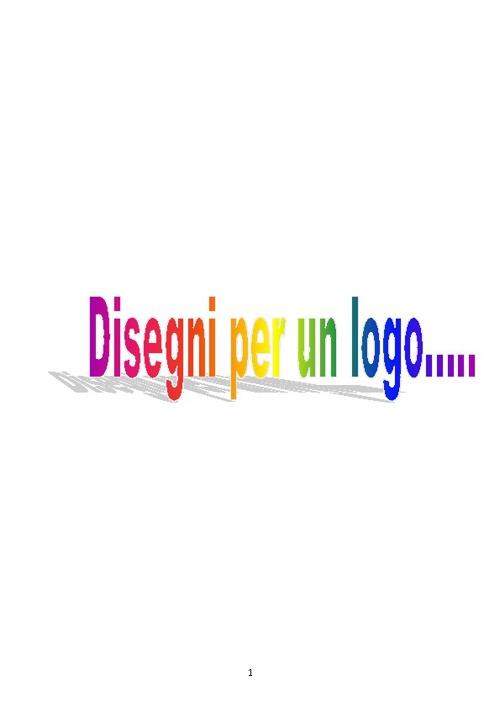 Disegni per un logo