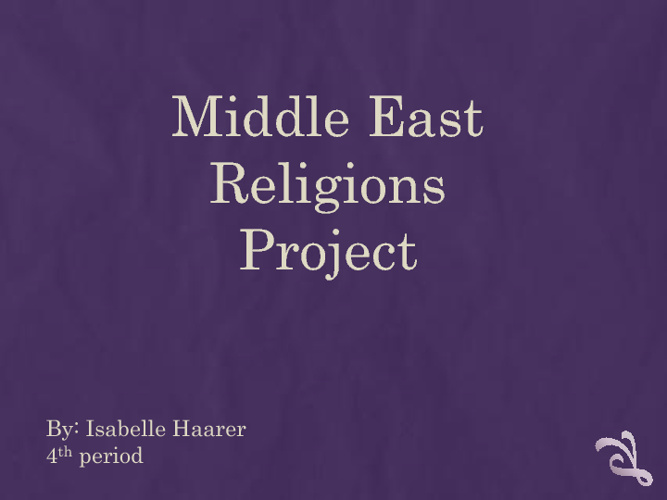 Middle East Religions Project
