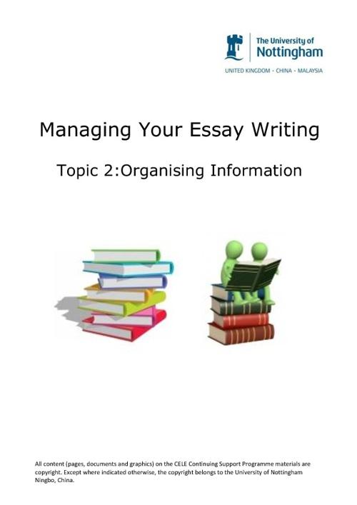 Organising Information